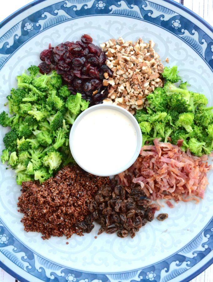 Broccoli, Bacon and Quinoa Salad