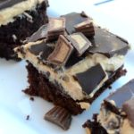 Reese's Peanut Butter Cup Double Chocolate Brownies