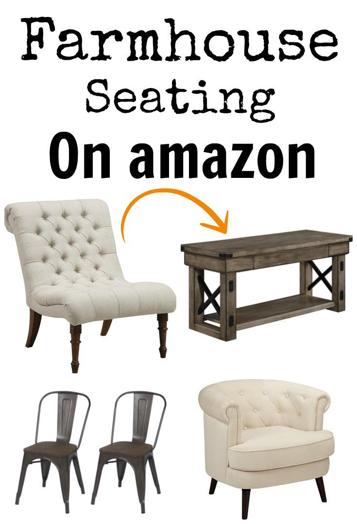 Farmhouse Seating on Amazon