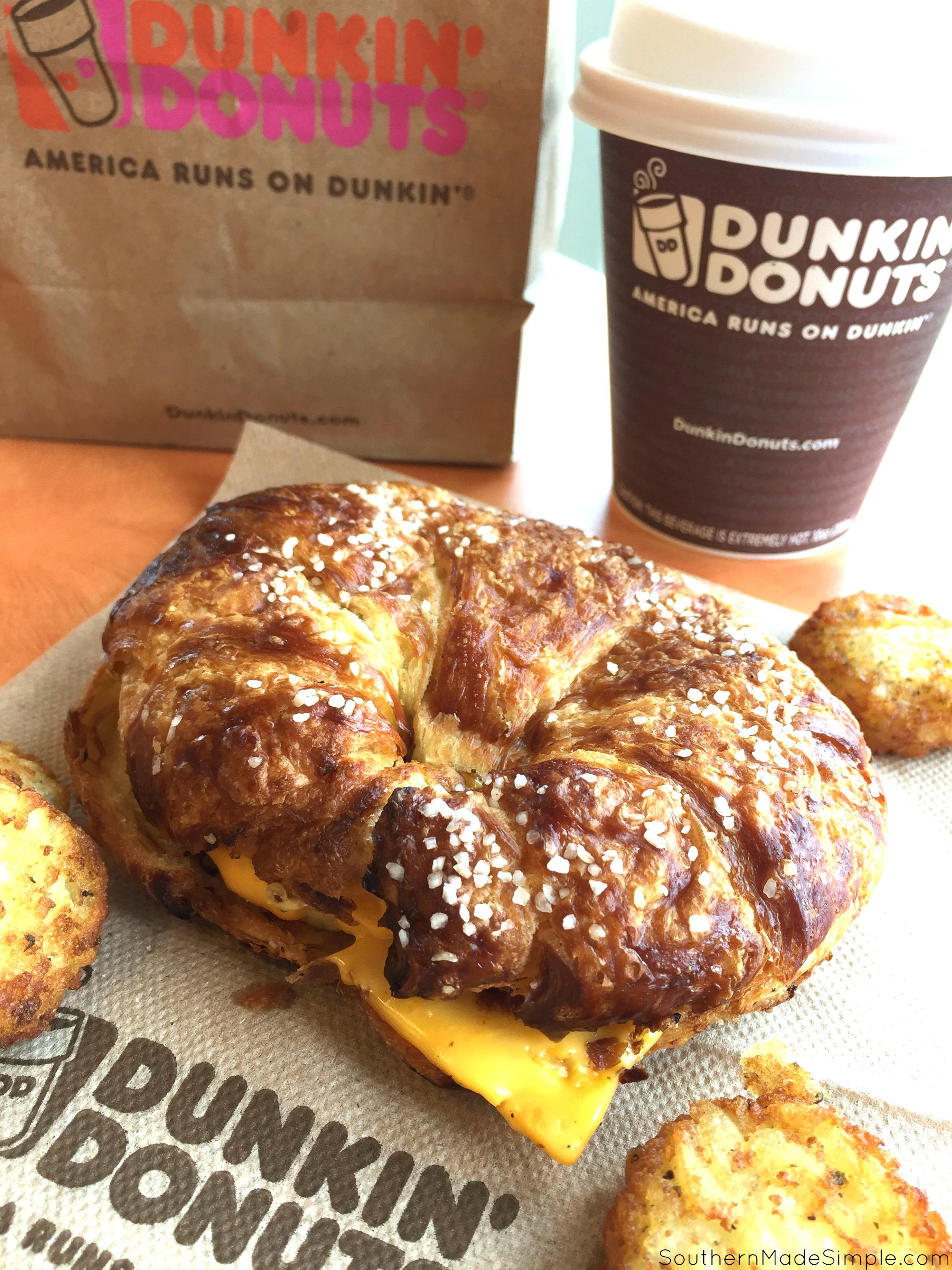 Dunkin' Donuts Pretzel Croissant Breakfast Sandwich