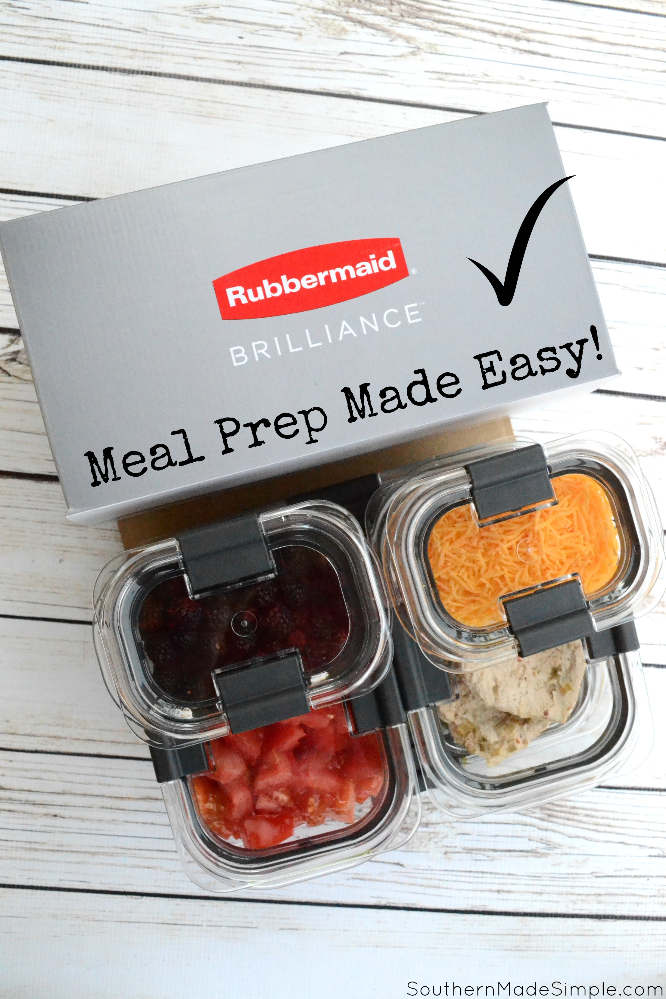 Meal Prep Made Easy with Rubbermaid Brilliance Review #StoredBrilliantly #ad