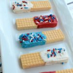Patriotic Sugar Wafers - A perfect celebratory treat for Fourth of July of Memorial Day!