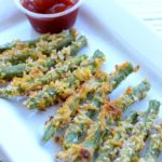 Crispy Baked Green Bean Fries - The perfect kid-friendly side to balance your weeknight meal! #BalanceYourPlate #CLVR #sponsored