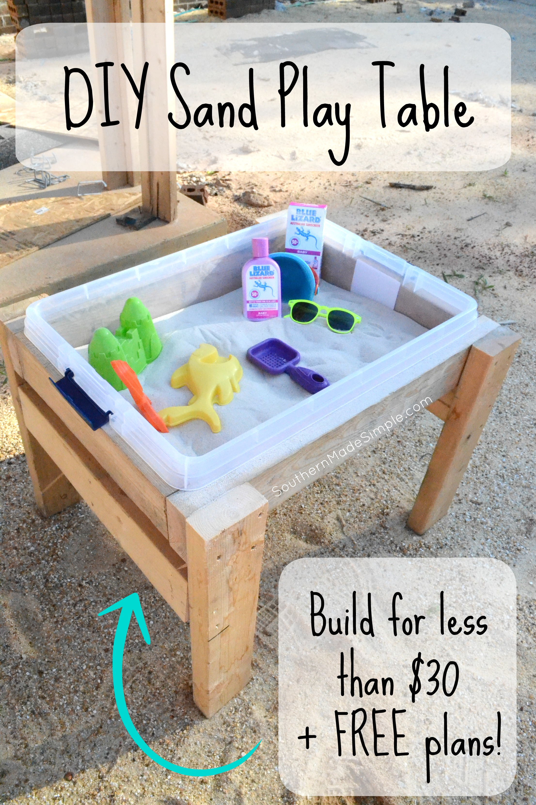 Fun in the Sun and Sand DIY Sand Play Table Southern Made Simple