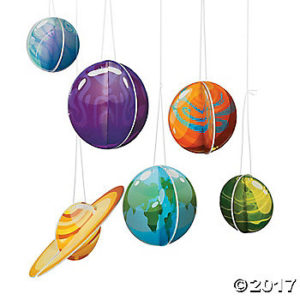 Even more galactic starveyors vbs decor ideas southern - Hanging planets decorations ...
