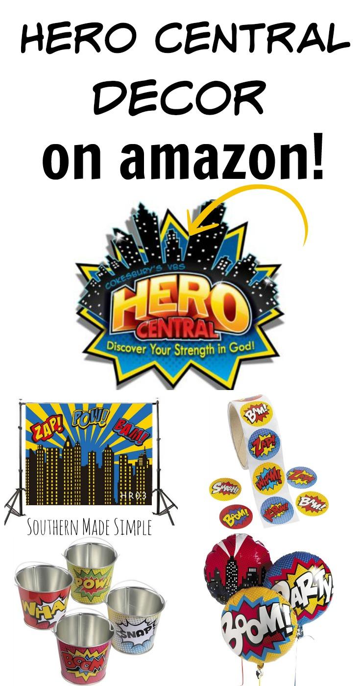 Hero Central VBS Decor