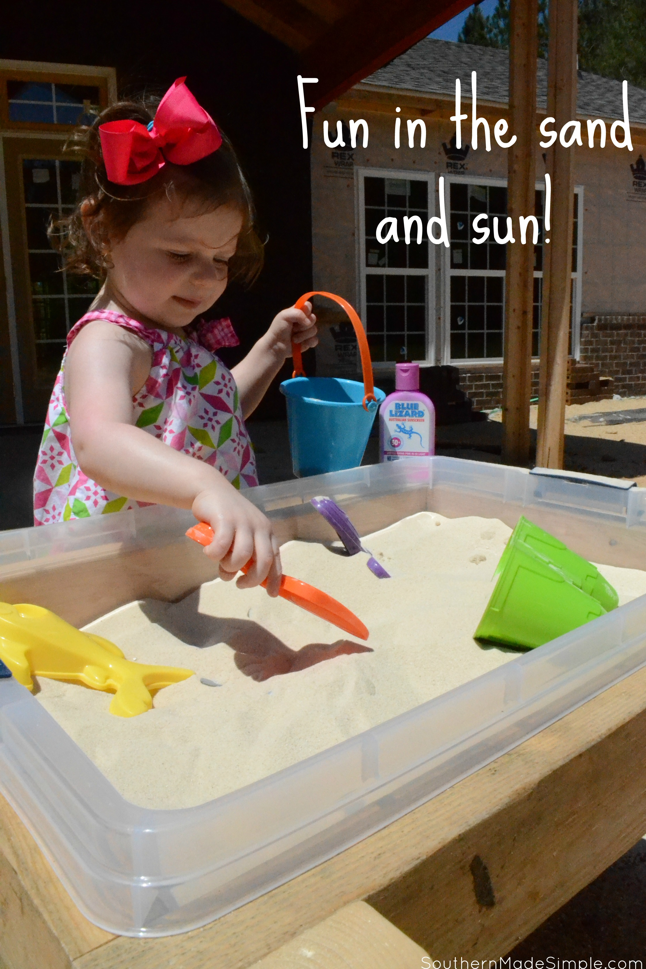 Bring the beach to your yard this summer with this easy DIY sand table! #BlueLizardSummer #ad @Walmart