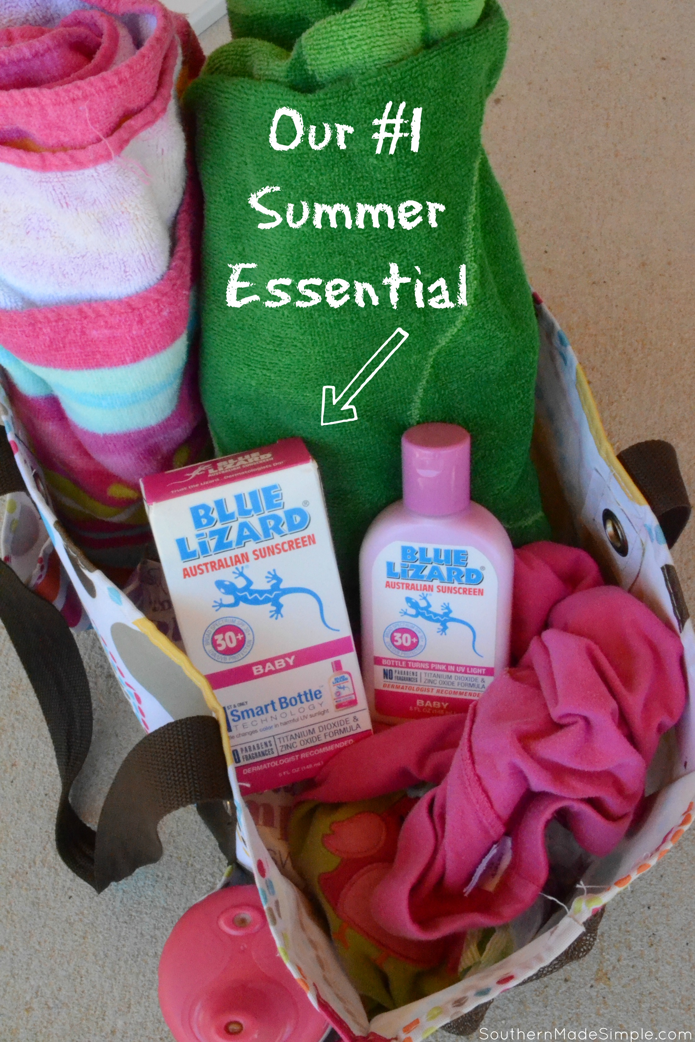 Bring the beach to your yard this summer with this easy DIY sand table! #BlueLizardSummer #ad