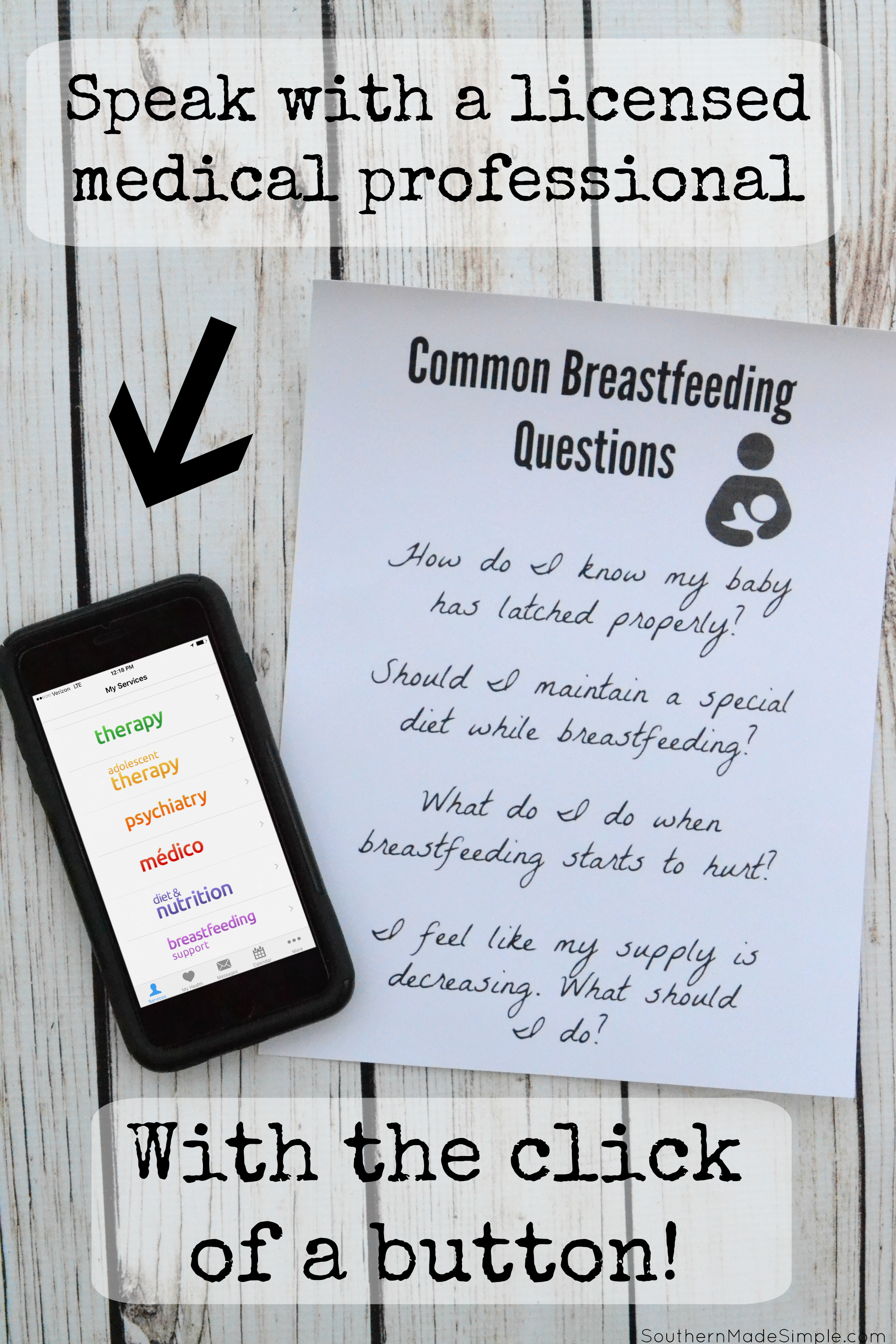 Breastfeeding Questions? Chat With a Lactation Consultant Whenever and Wherever using Amwell!