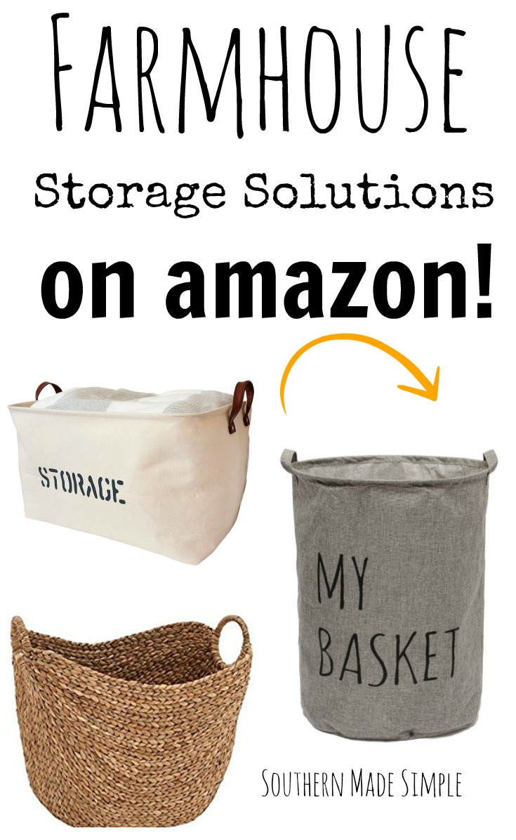Farmhouse Style Storage Solutions on Amazon