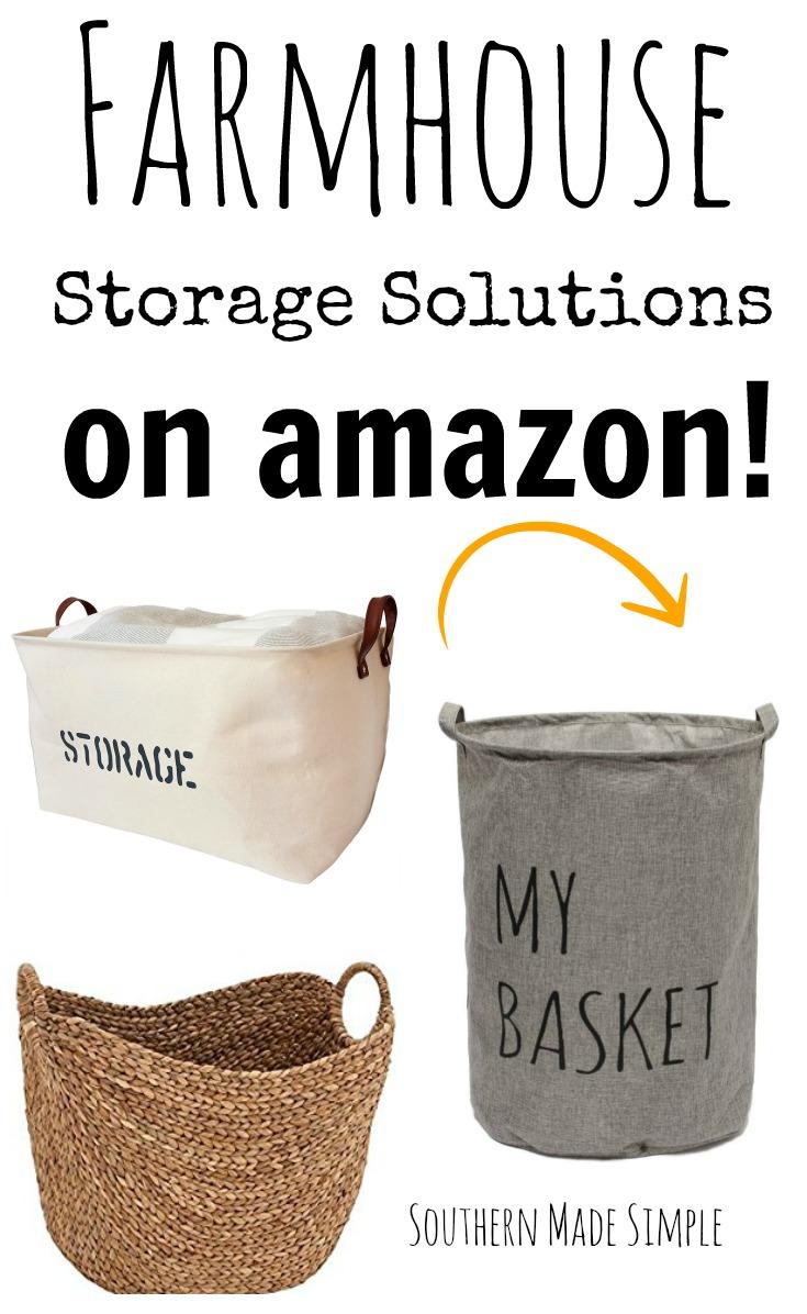 Farmhouse Style Storage Solutions on Amazon