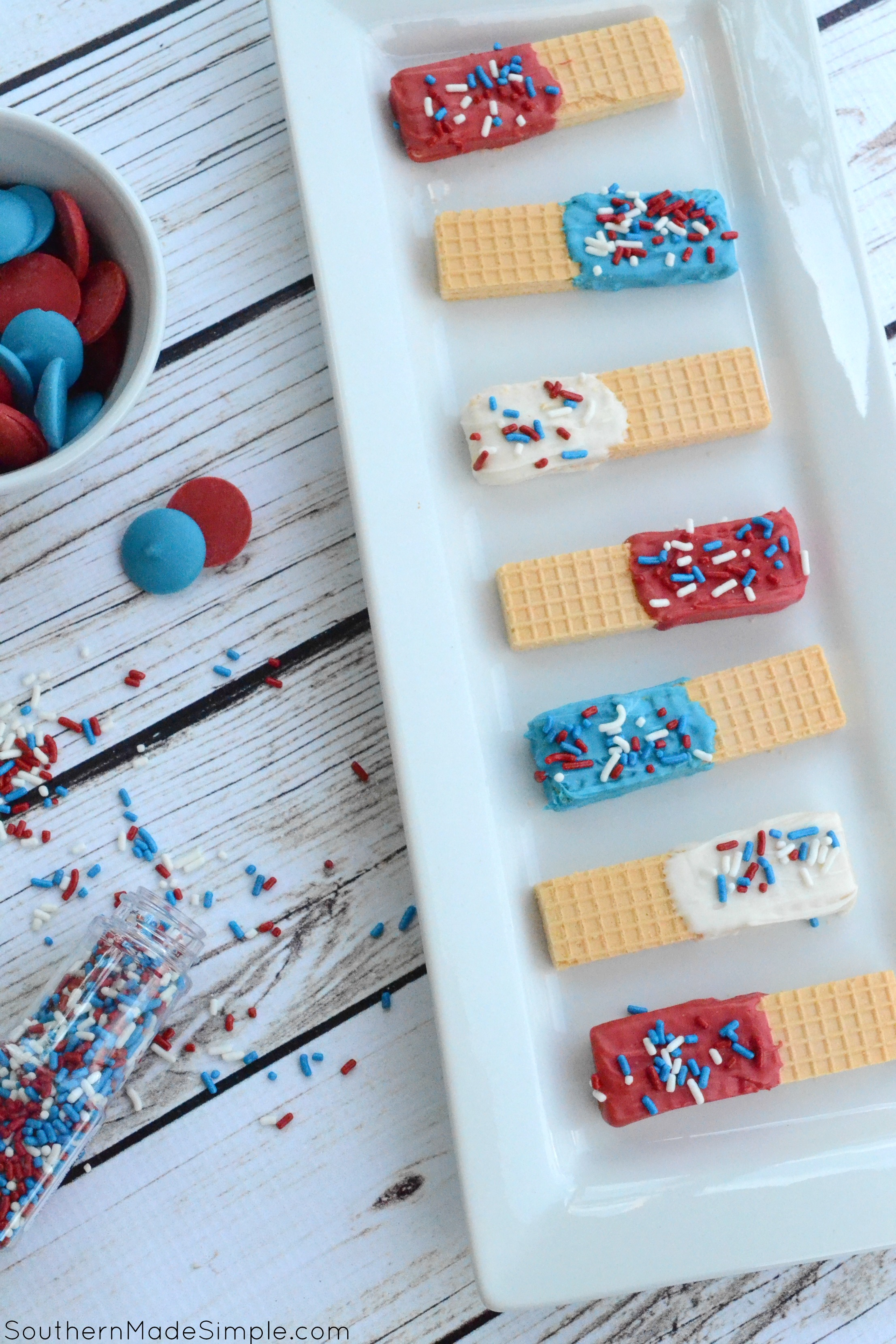 Patriotic Sugar Wafers