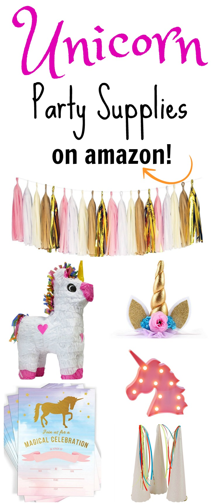 Unicorn Party Supplies on Amazon