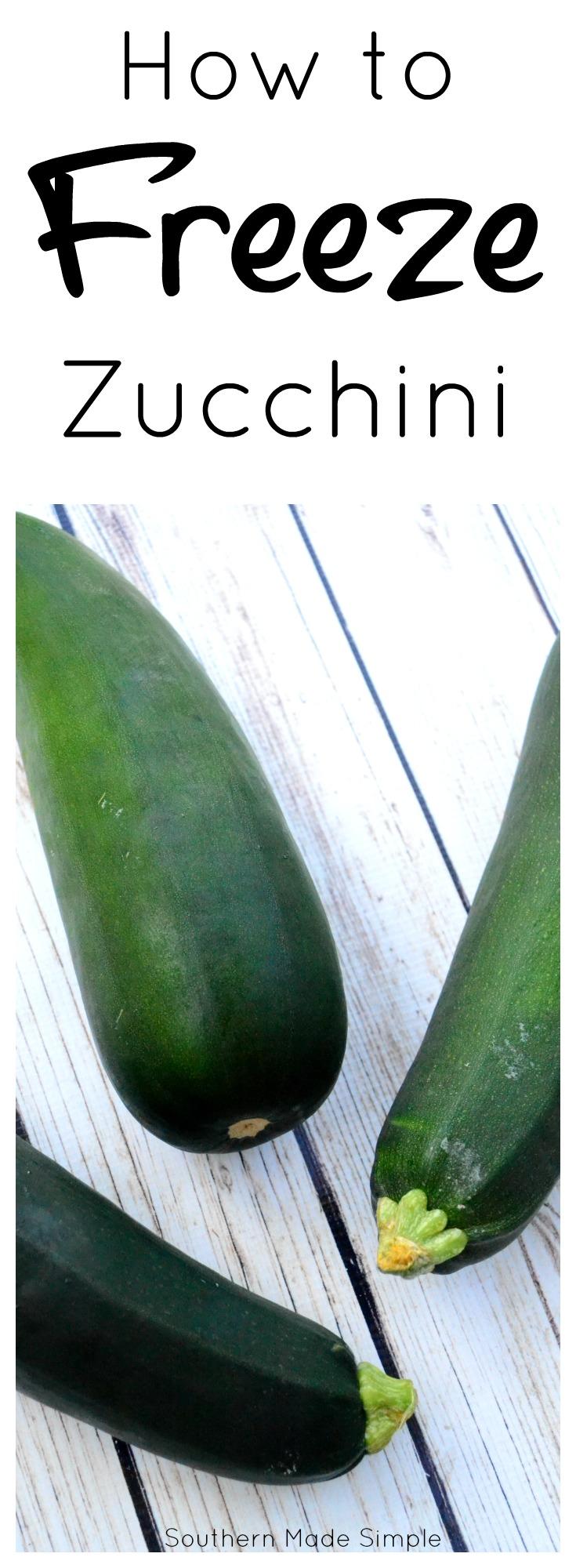 How to Freeze Zucchini