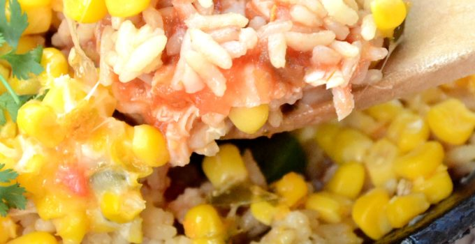 Cheesy Chicken & Rice Burrito Dip