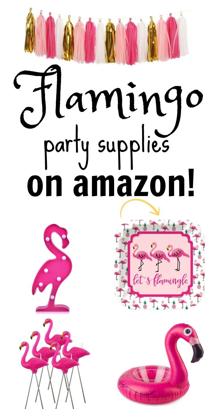 Flamingo Party Supplies on Amazon