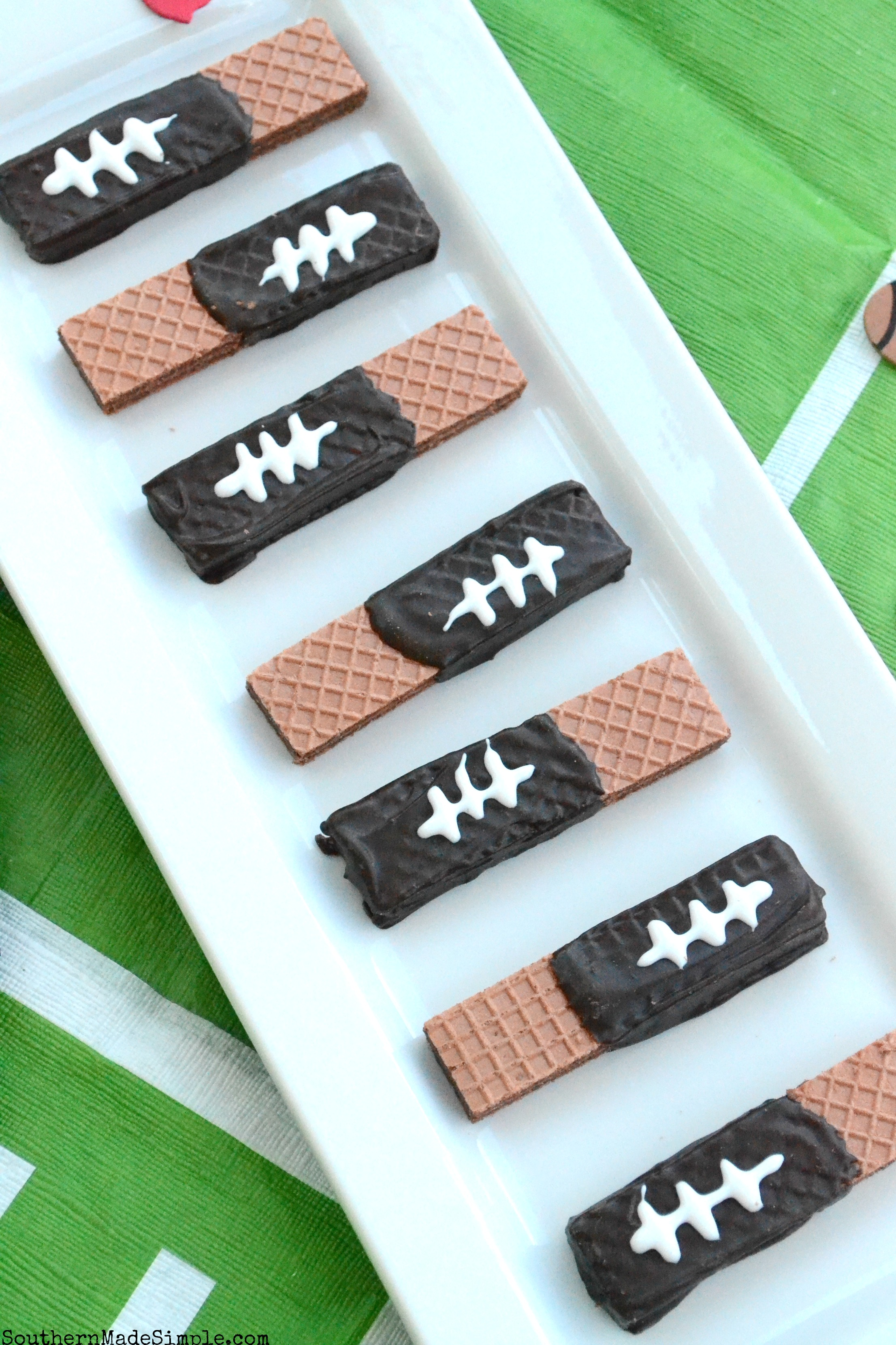 Football Sugar Wafers