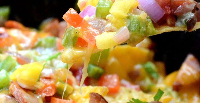 Spicy Smoked Sausage & Pineapple Salsa Nachos