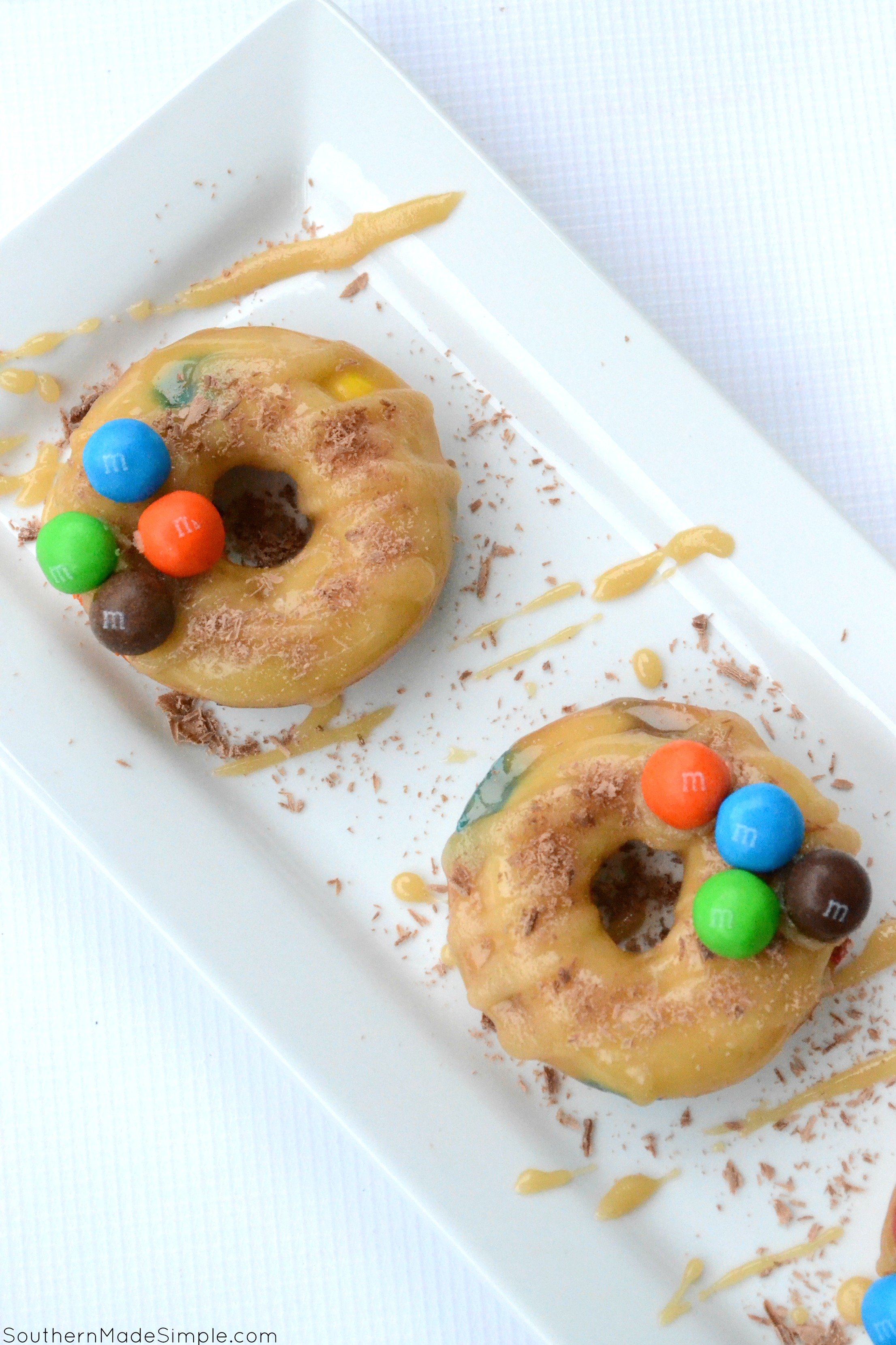 Triple Caramel Candy Doughnuts - the perfectly sweet treat that takes caramel candy to a whole new level! #UnsquareCaramel #ad