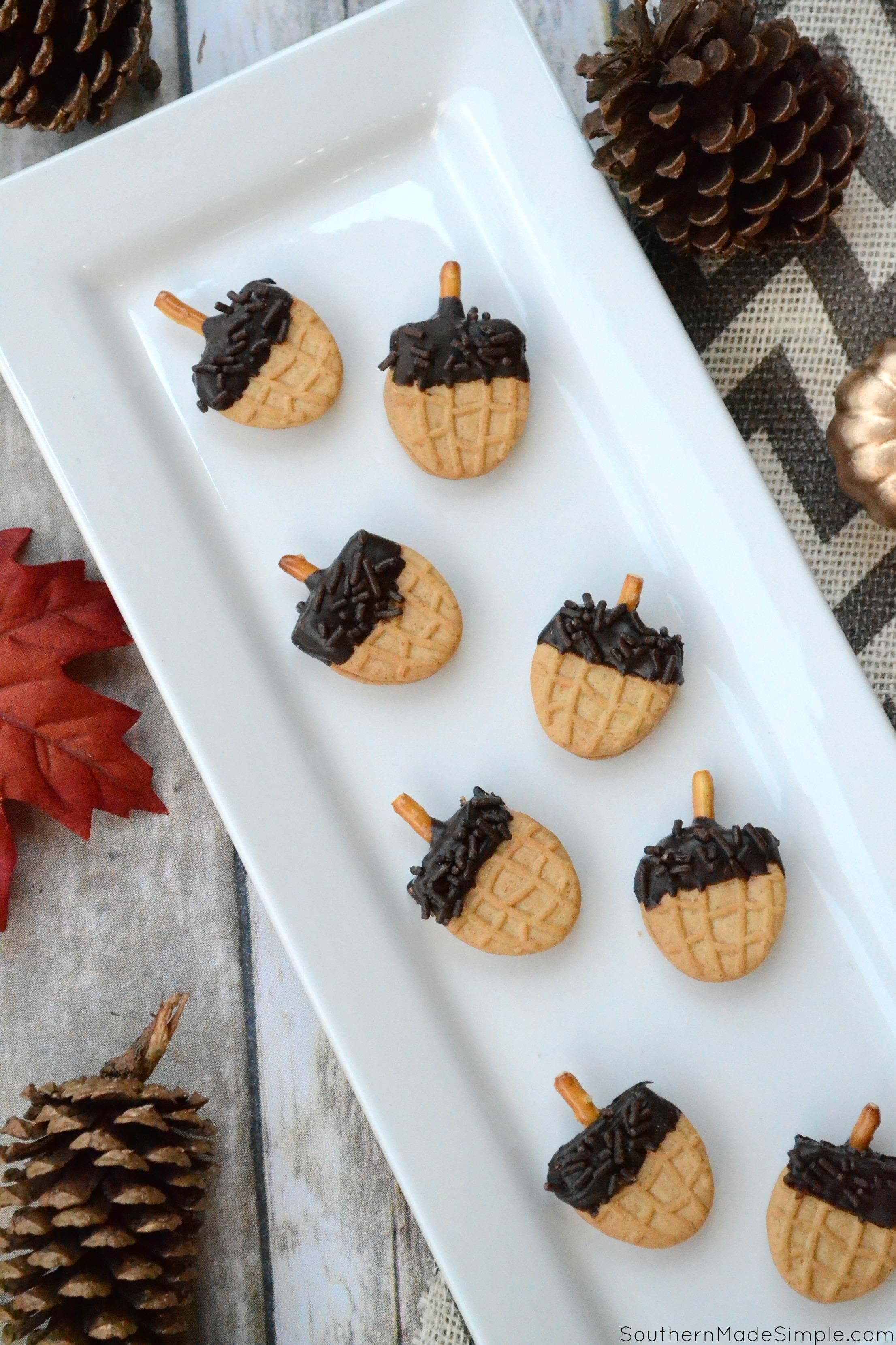 Easy Fall Acorn Cookies