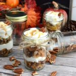 Celebrate the arrival of Fall with this fun twist on a simple southern dish! These mini pecan pie trifles are easy to make and will be the talk of the party! #SKSHarvest #SeasonalSolutions #ad