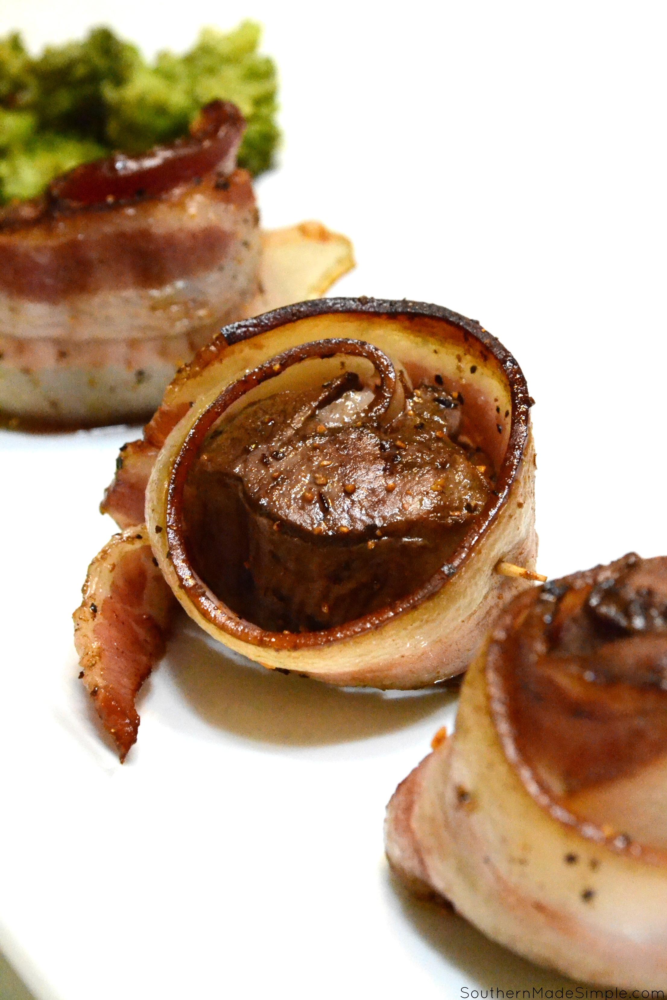 Bacon Wrapped Venison Tenderloin