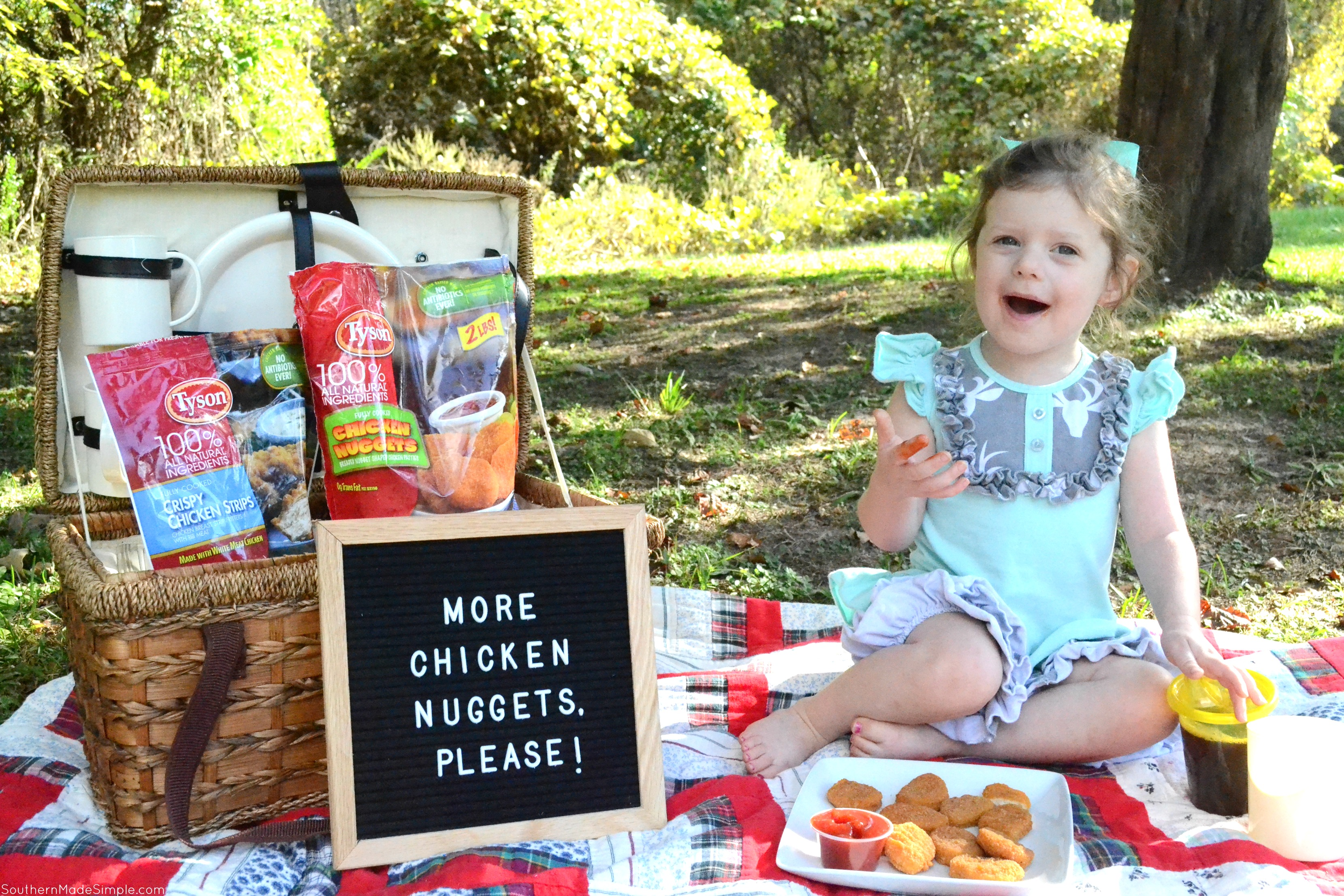 """My toddler has proven to be a pretty picky eater, and most days all she's willing to eat is her beloved chicken nuggets. Since discovering specially marked packages of Tyson Chicken Nuggets at Publix with the """"No Antibiotics Ever"""" seal, I'm happy to give in to her picky habits!"""