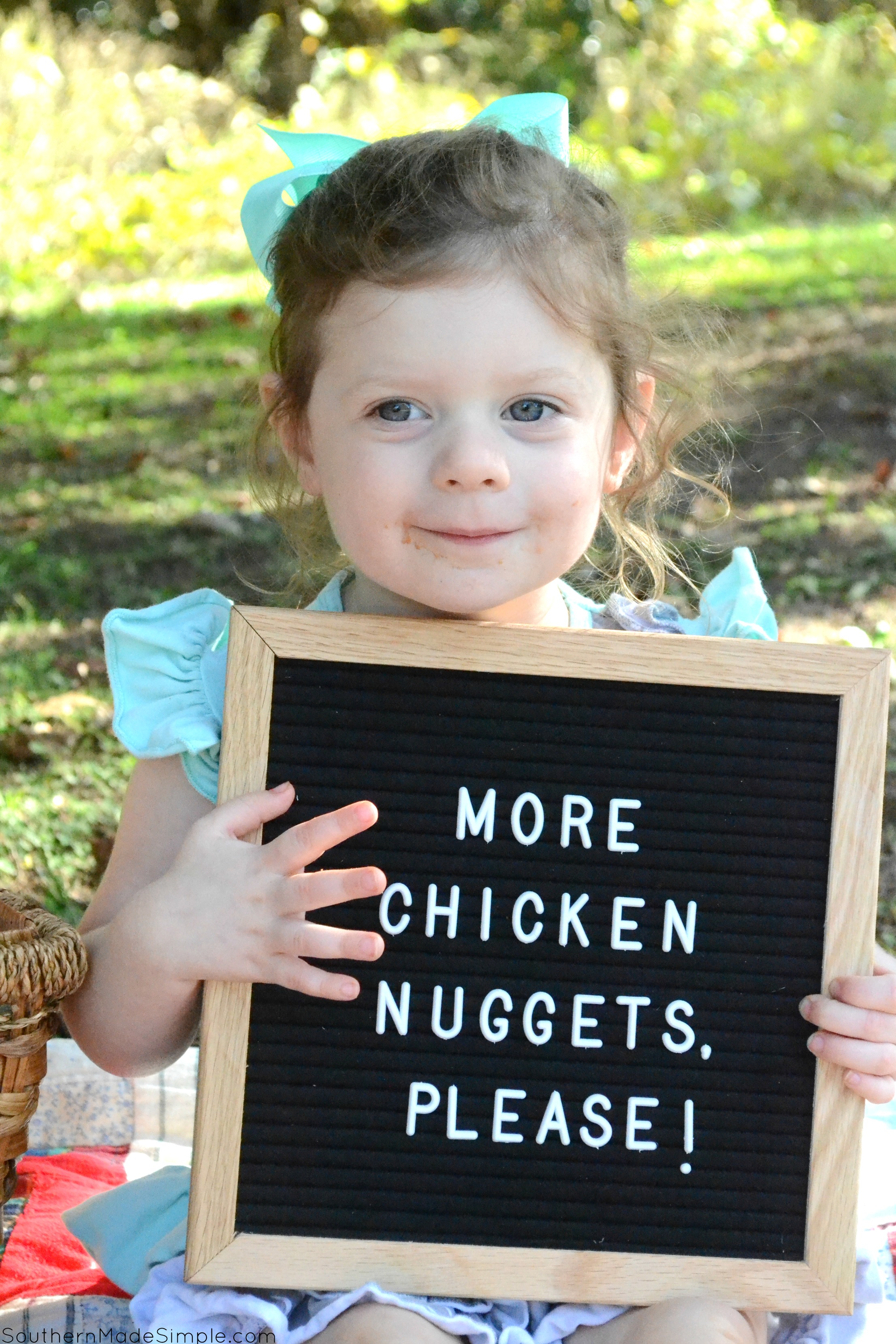 "My toddler has proven to be a pretty picky eater, and most days all she's willing to eat is her beloved chicken nuggets. Since discovering specially marked packages of Tyson Chicken Nuggets at Publix with the ""No Antibiotics Ever"" seal, I'm happy to give in to her picky habits!"