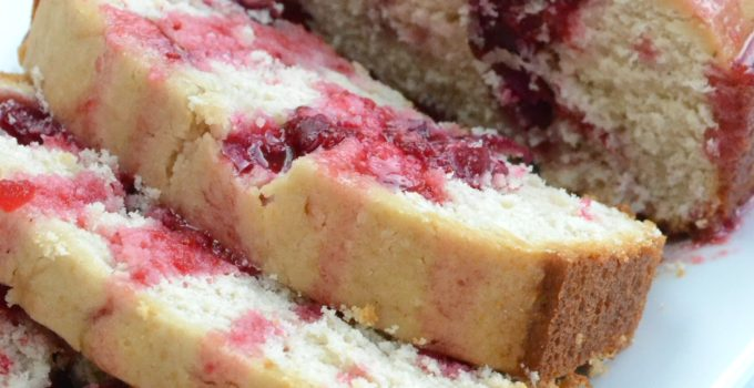 Cranberry Cream Cheese Pound Cake + GIVEAWAY!