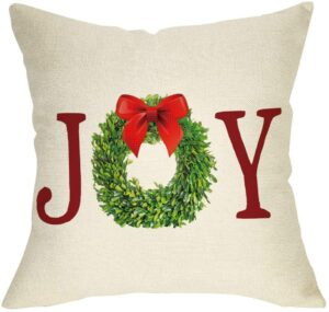 Farmhouse Christmas Throw Pillows on a Budget