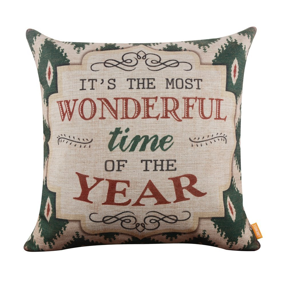 Farmhouse Christmas Throw Pillows on a Budget - Southern Made Simple