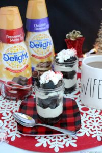 Make your holiday season even sweeter with these simple and scrumptious Peppermint Brownie Cheesecake Trifles! #DelightfulMoments #CBias #ad