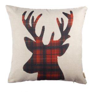Farmhouse Christmas Throw Pillows on a Budget