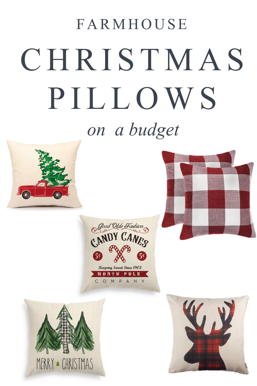 Farmhouse Christmas Throw Pillows On A Budget Southern Made Simple