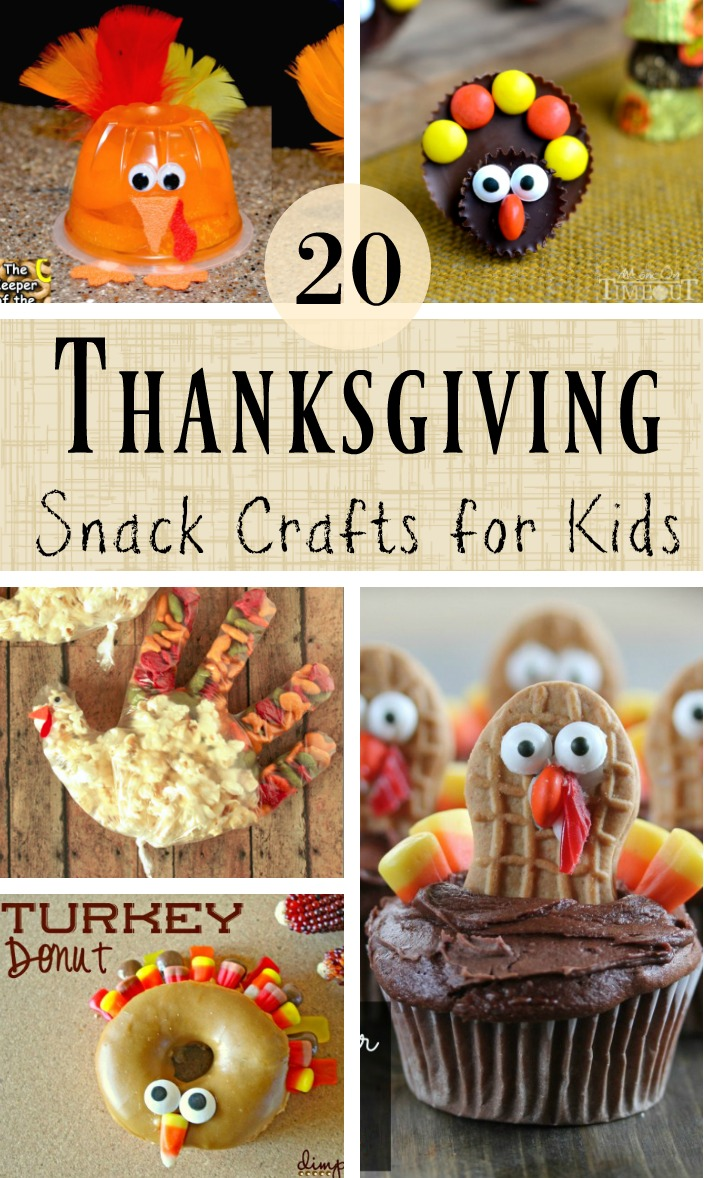 Healthy thanksgiving snack crafts for kids southern made for Fun kid food crafts