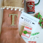 DIY No-Sew Burlap Stocking #StockedWithLove #ad