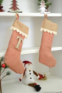 DIY No-Sew Burlap Stocking #StockedWithLove #ad