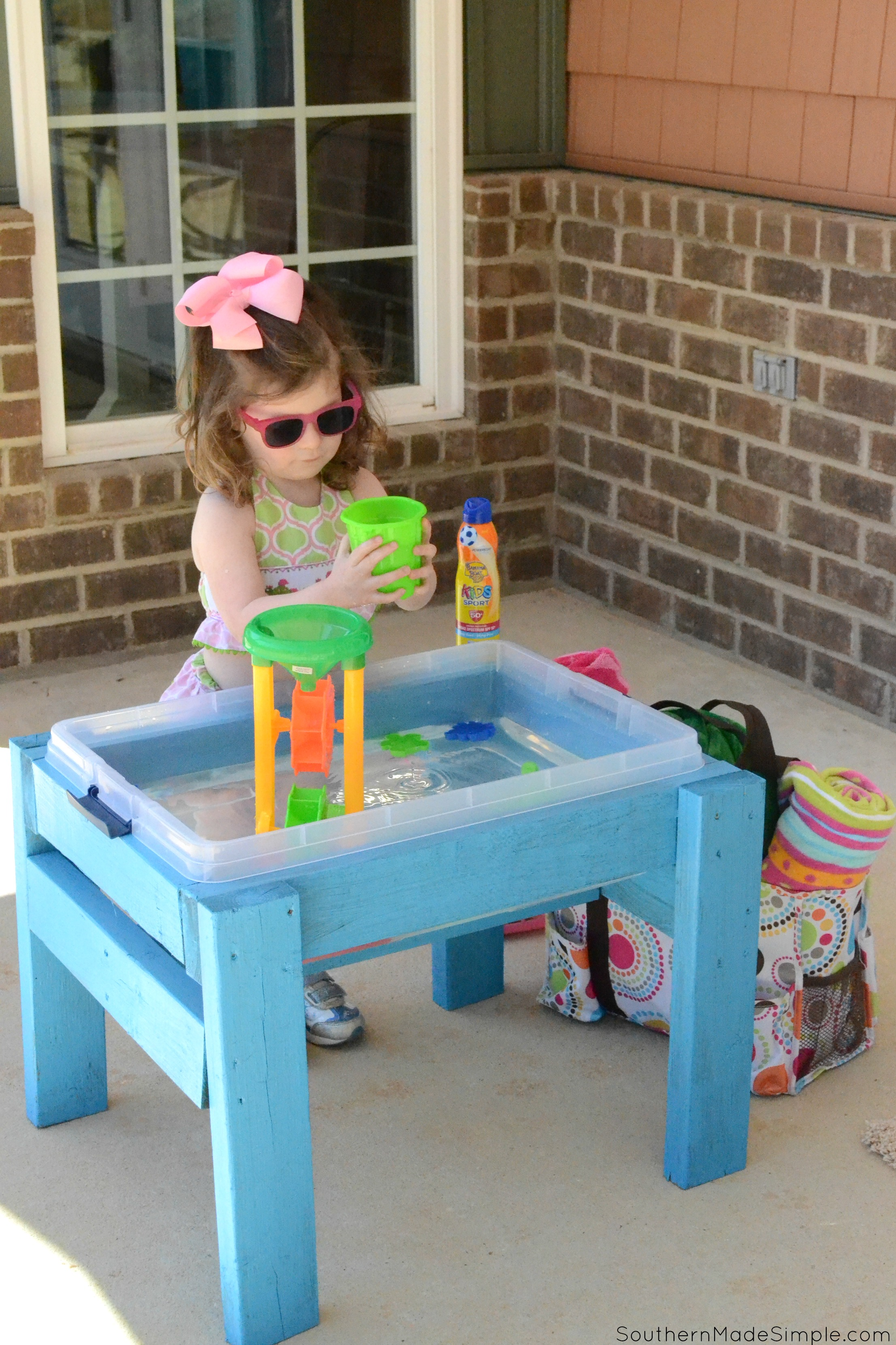 Diy Outdoor Water Activity Play Table Southern Made Simple