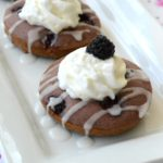 Glazed Blackberry Doughnuts
