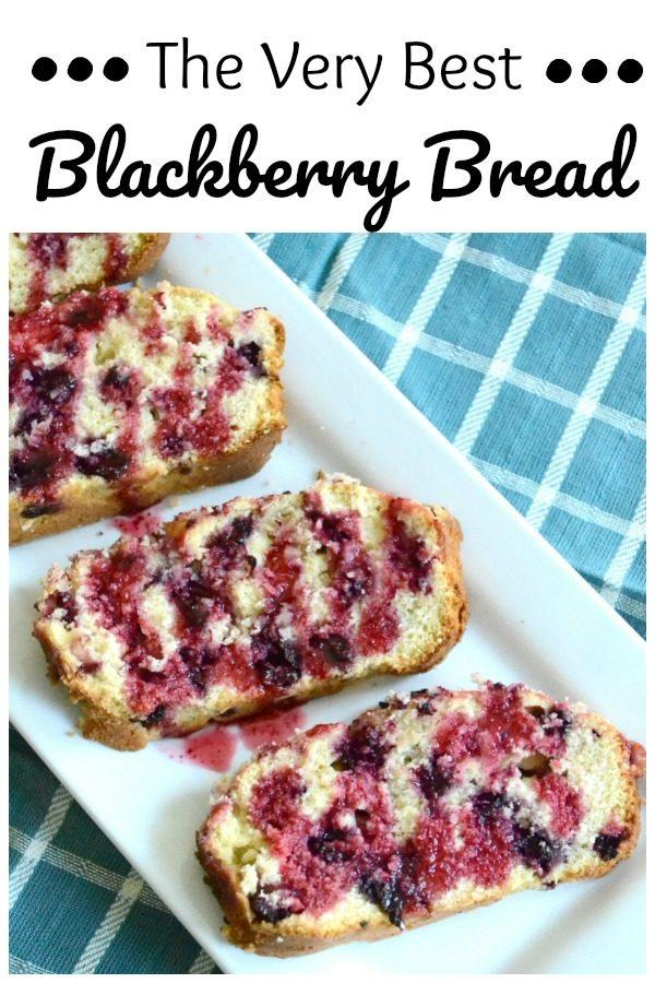 Simple Blackberry Bread Recipe