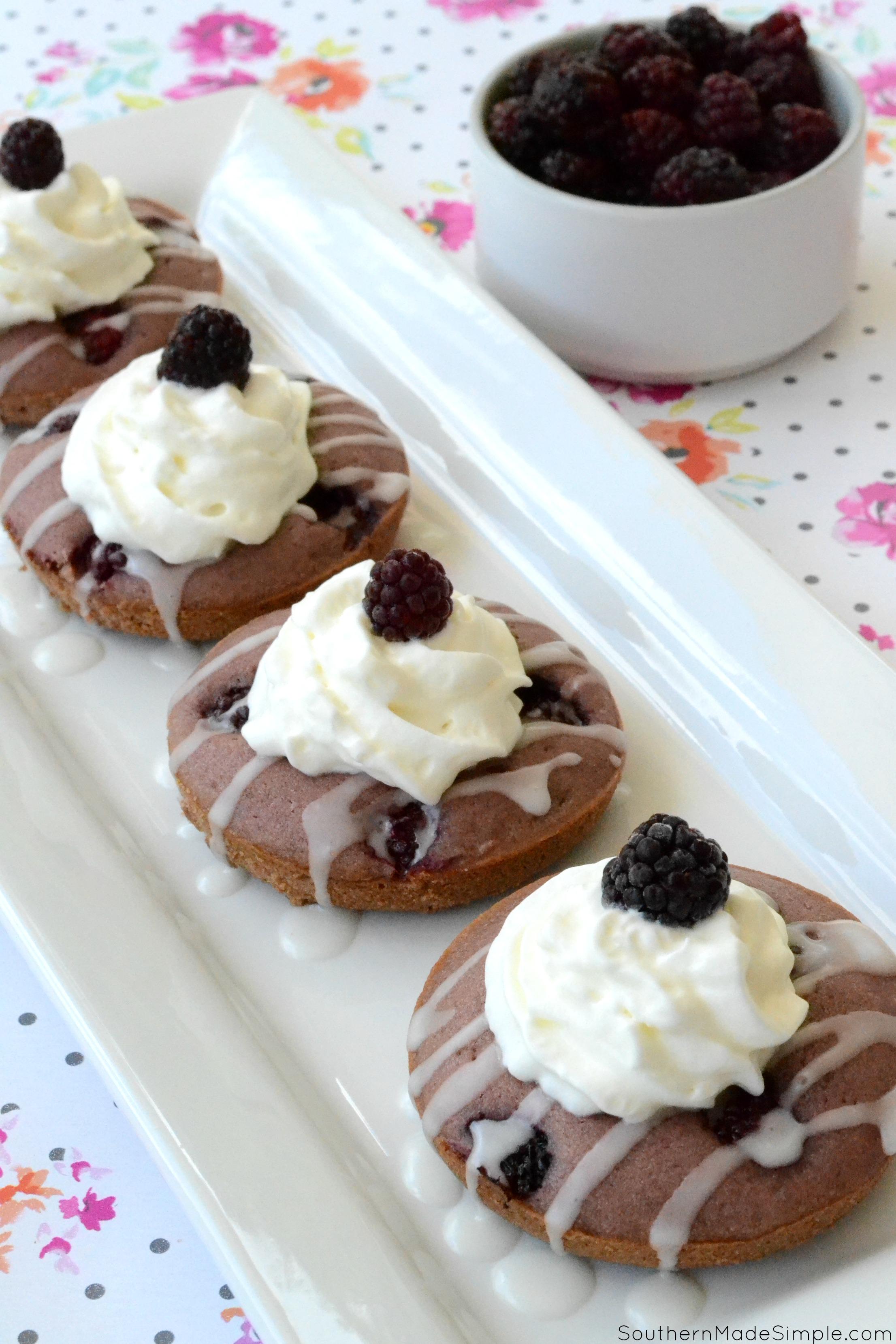 Glazed Blackberry Doughnuts