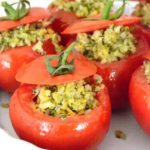 Broccoli & Cheddar Stuffed Tomatoes #VeggieSwapIns #IC #ad