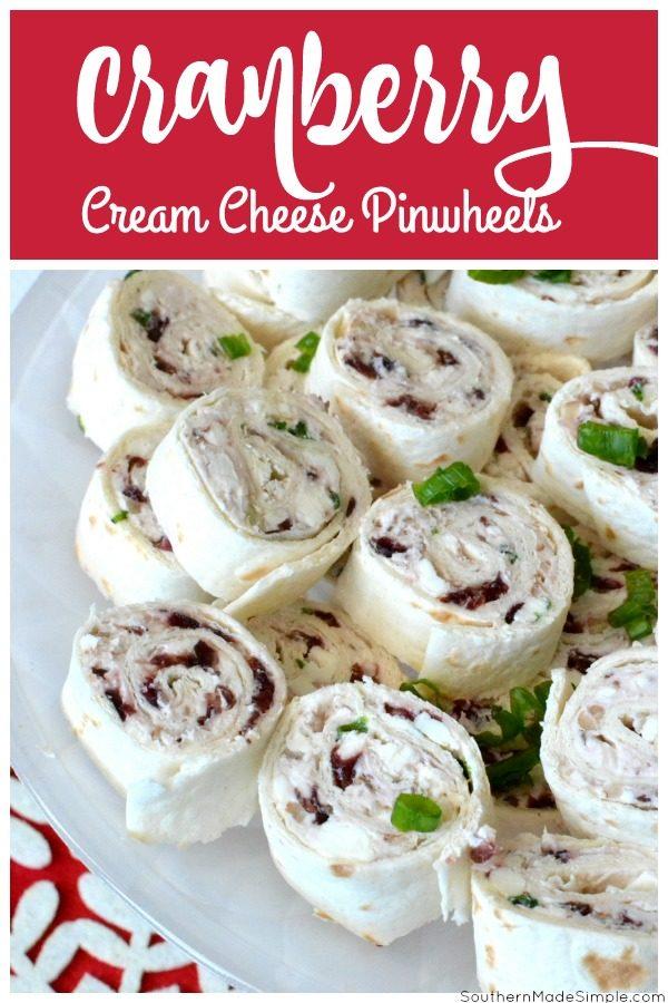 Cranberry Cream Cheese Pinwheels