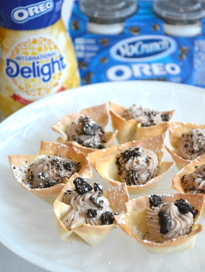 Oreo Cannoli Cups #SnackTimeDelight #AD