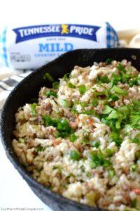 Cajun Dirty Rice Egg Rolls with Creole Dipping Sauce