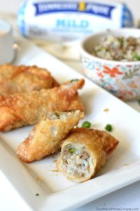 Cajun Dirty Rice Egg Rolls with Creole Dipping Sauce
