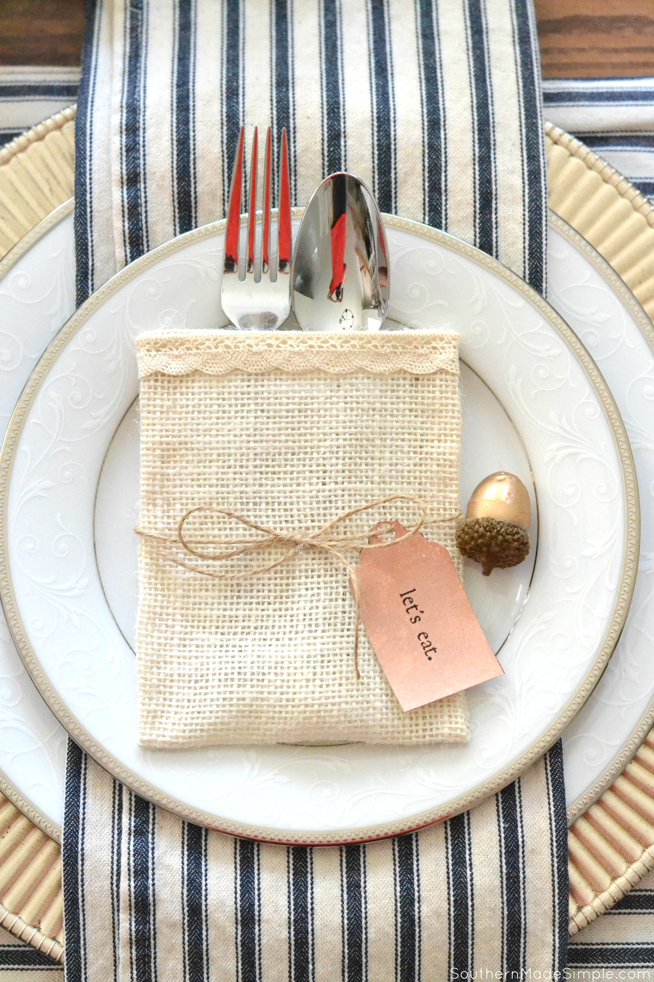 Simple Friendsgiving Entertaining + DIY Utensil Holder