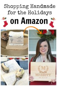 Shopping Handmade for the Holidays? Find it on Amazon!