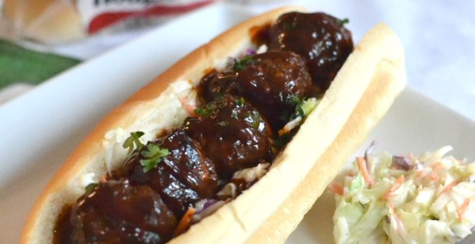 Game Day Air Fryer Spicy BBQ Meatball Subs + GIVEAWAY!