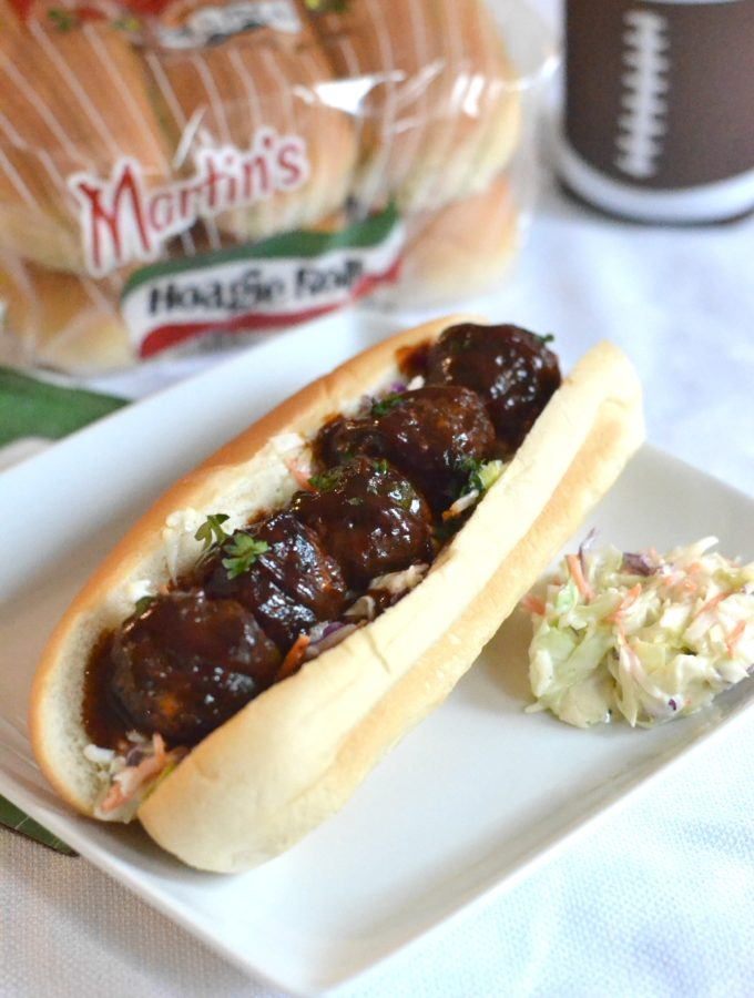 Airfryer BBQ Meatball Subs